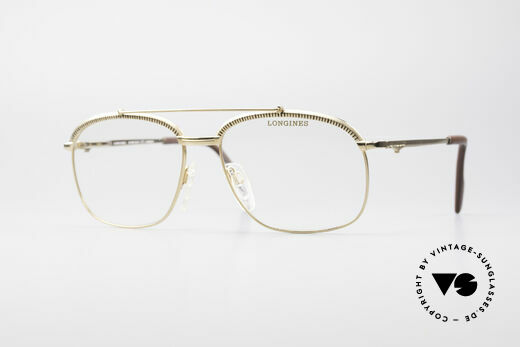Longines 0172 80's Luxury Eyeglasses Details