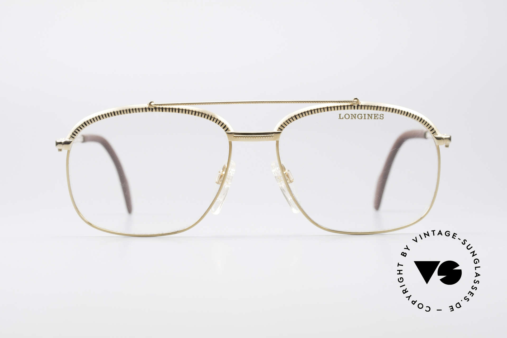 Longines 0172 80's Luxury Eyeglasses, high-end 'made in Germany' quality; gold-plated frame, Made for Men