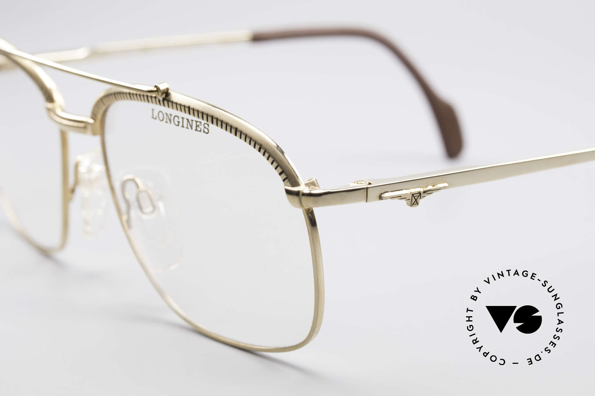 Longines 0172 80's Luxury Eyeglasses, NO RETRO fashion, but an app. 30 years old ORIGINAL!, Made for Men
