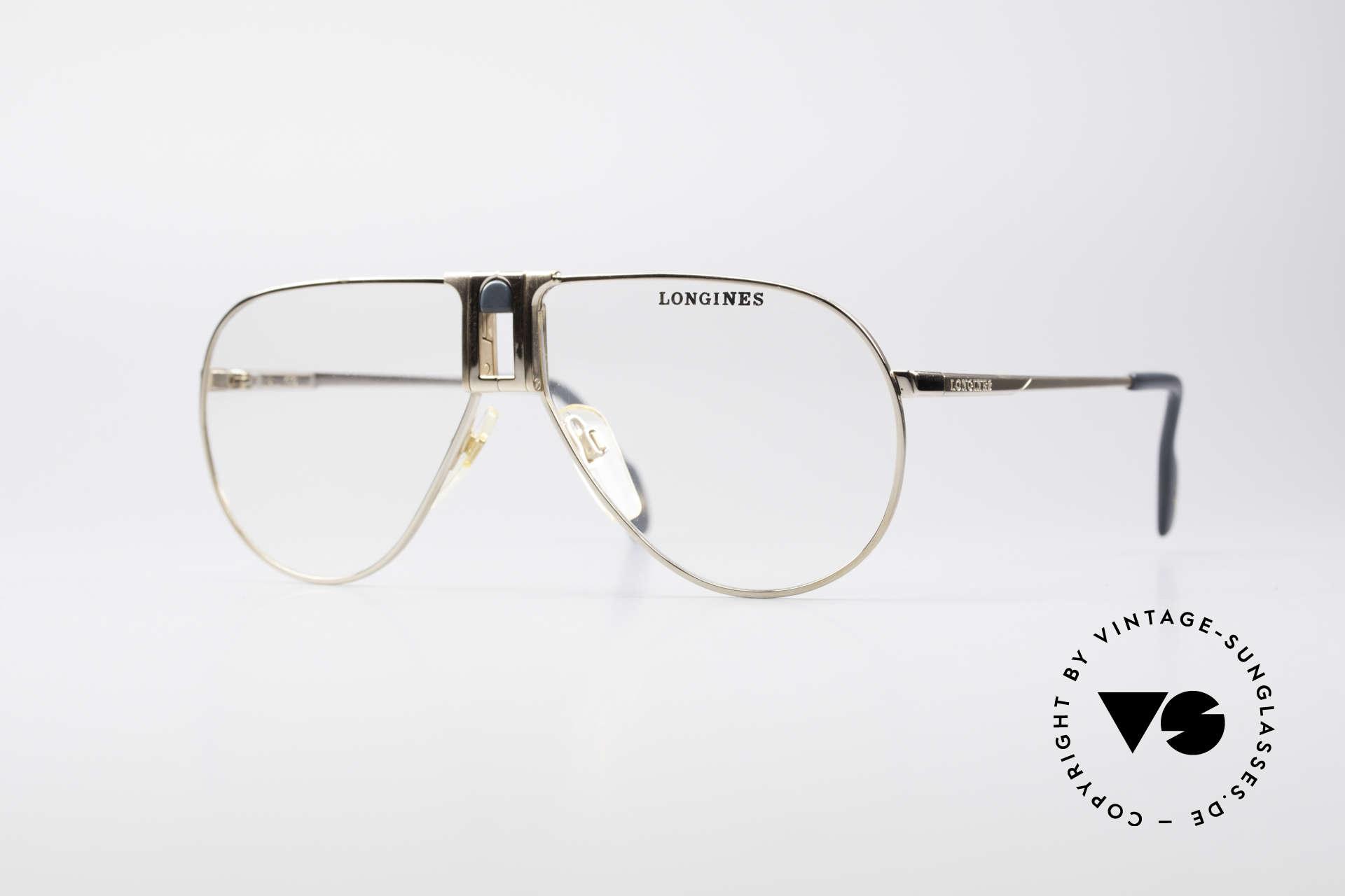 Longines 0154 1980's Aviator Eyeglasses, high-end VINTAGE designer eyeglasses by LONGINES, Made for Men