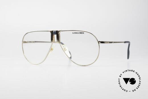 Longines 0154 1980's Aviator Eyeglasses Details