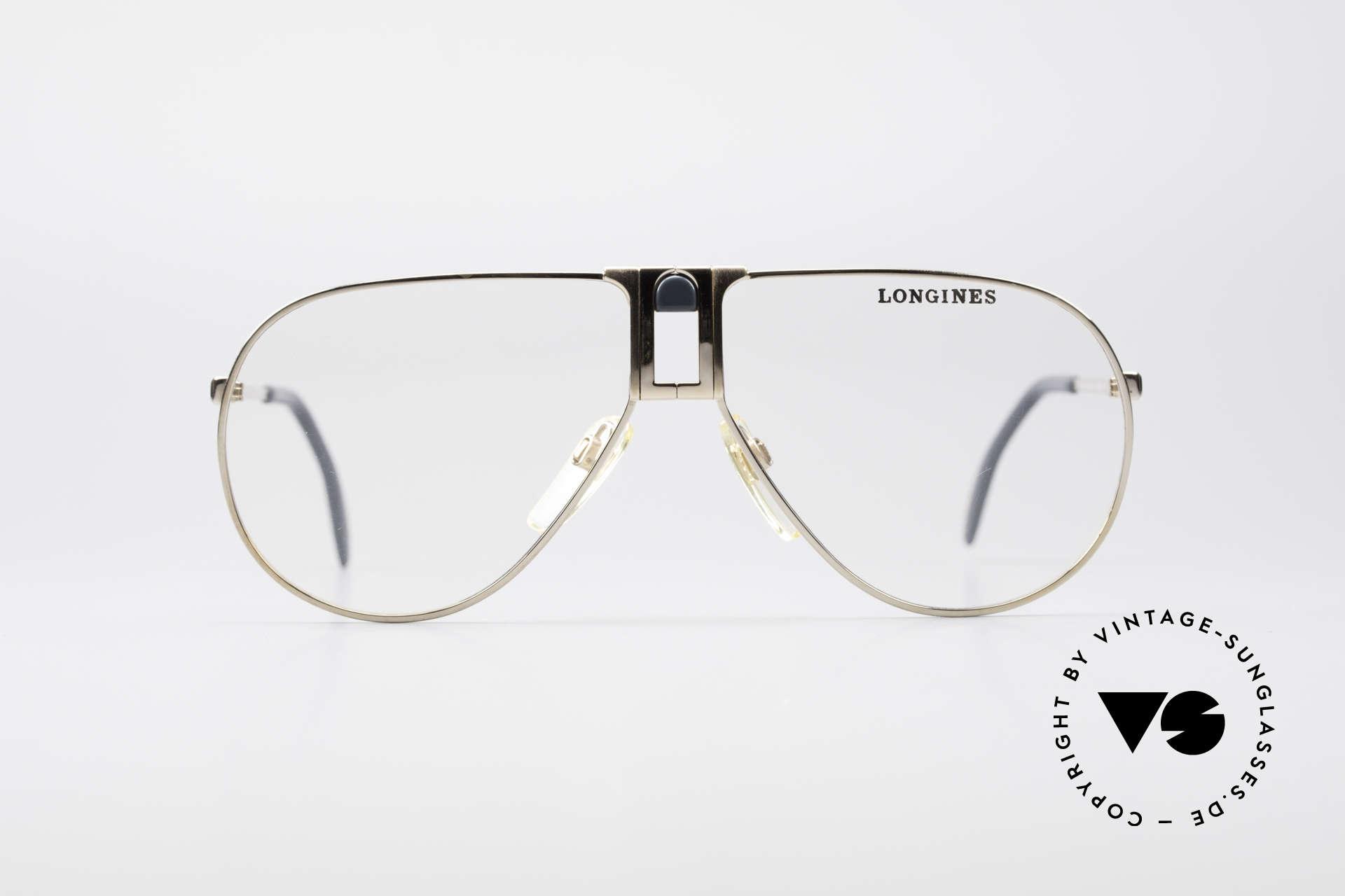 Longines 0154 1980's Aviator Eyeglasses, precious frame with spring hinges (Metzler, Germany), Made for Men
