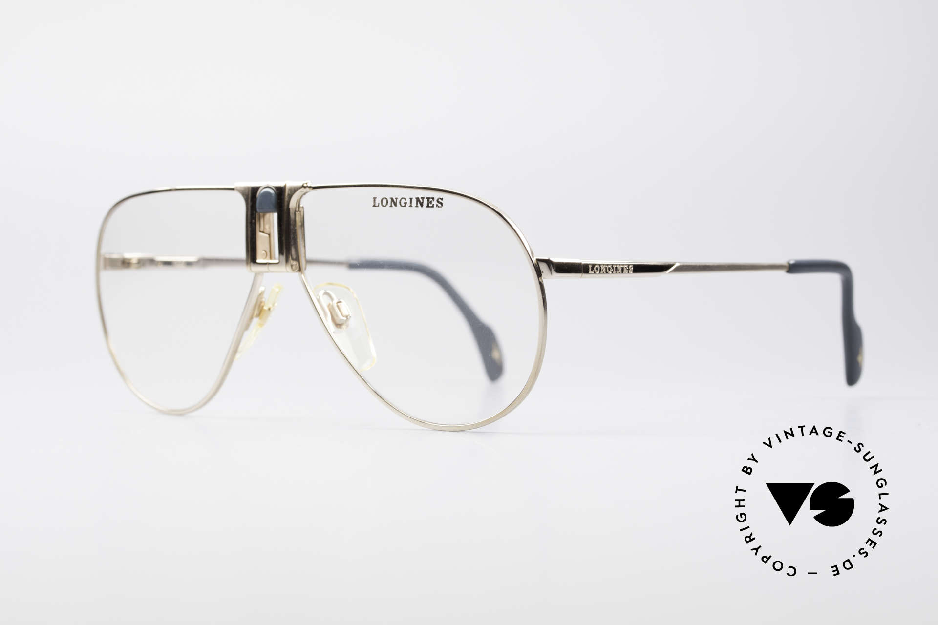 Longines 0154 1980's Aviator Eyeglasses, classic aviator design & with timeless coloring (gold), Made for Men