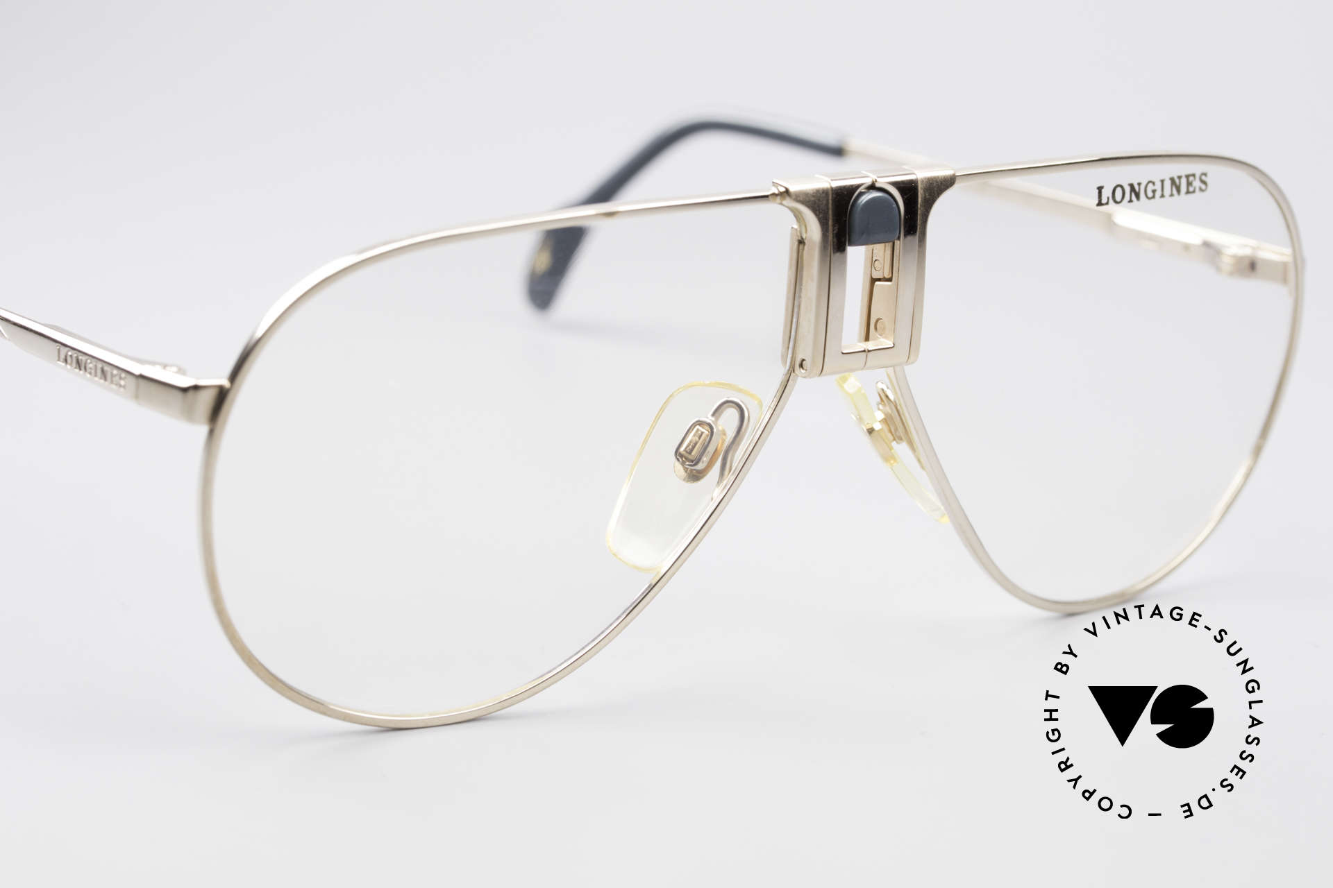 Longines 0154 1980's Aviator Eyeglasses, never worn (like all our premium vintage eyeglasses), Made for Men