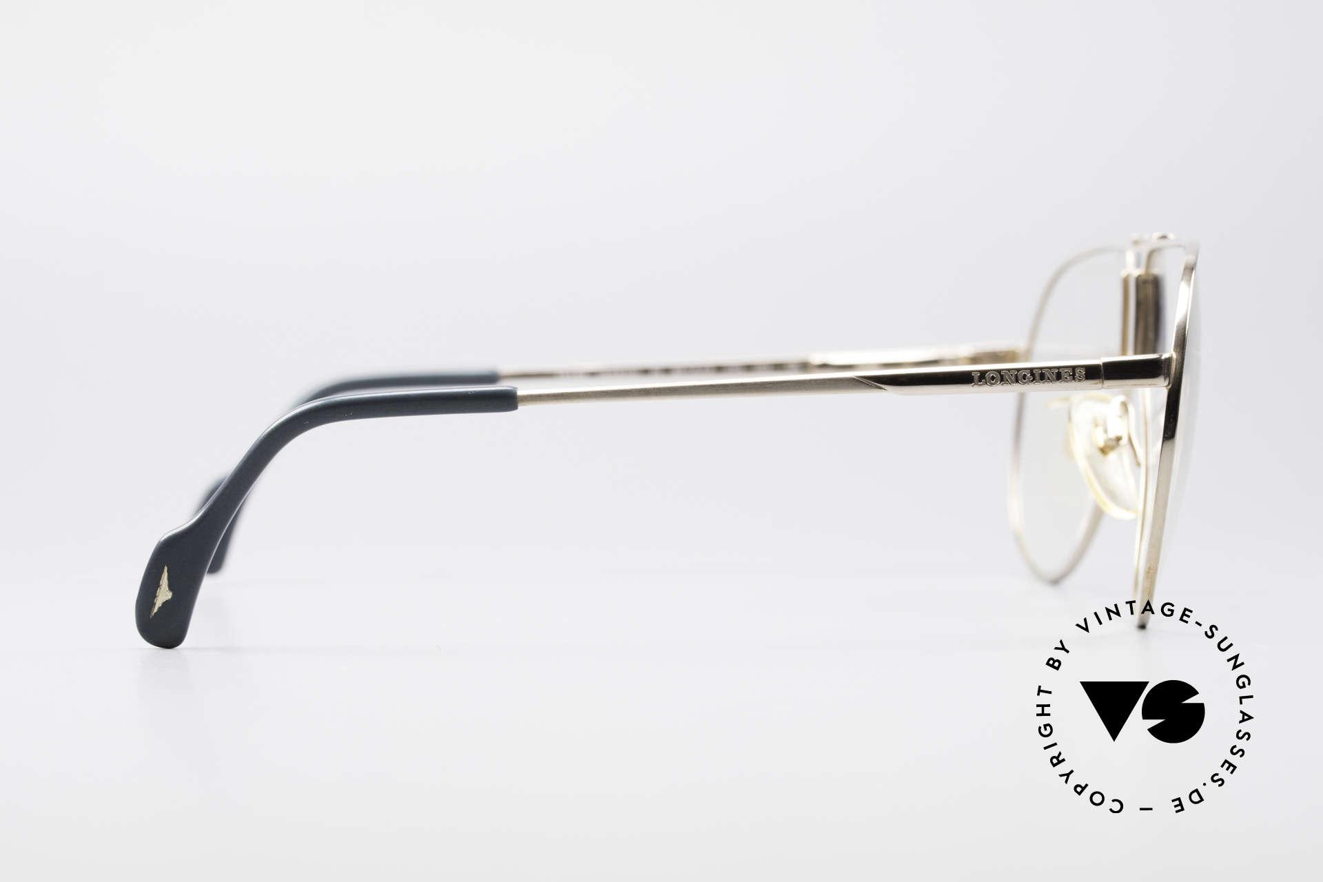 Longines 0154 1980's Aviator Eyeglasses, NO RETRO EYEWEAR, but a true old 1980's Original!!, Made for Men