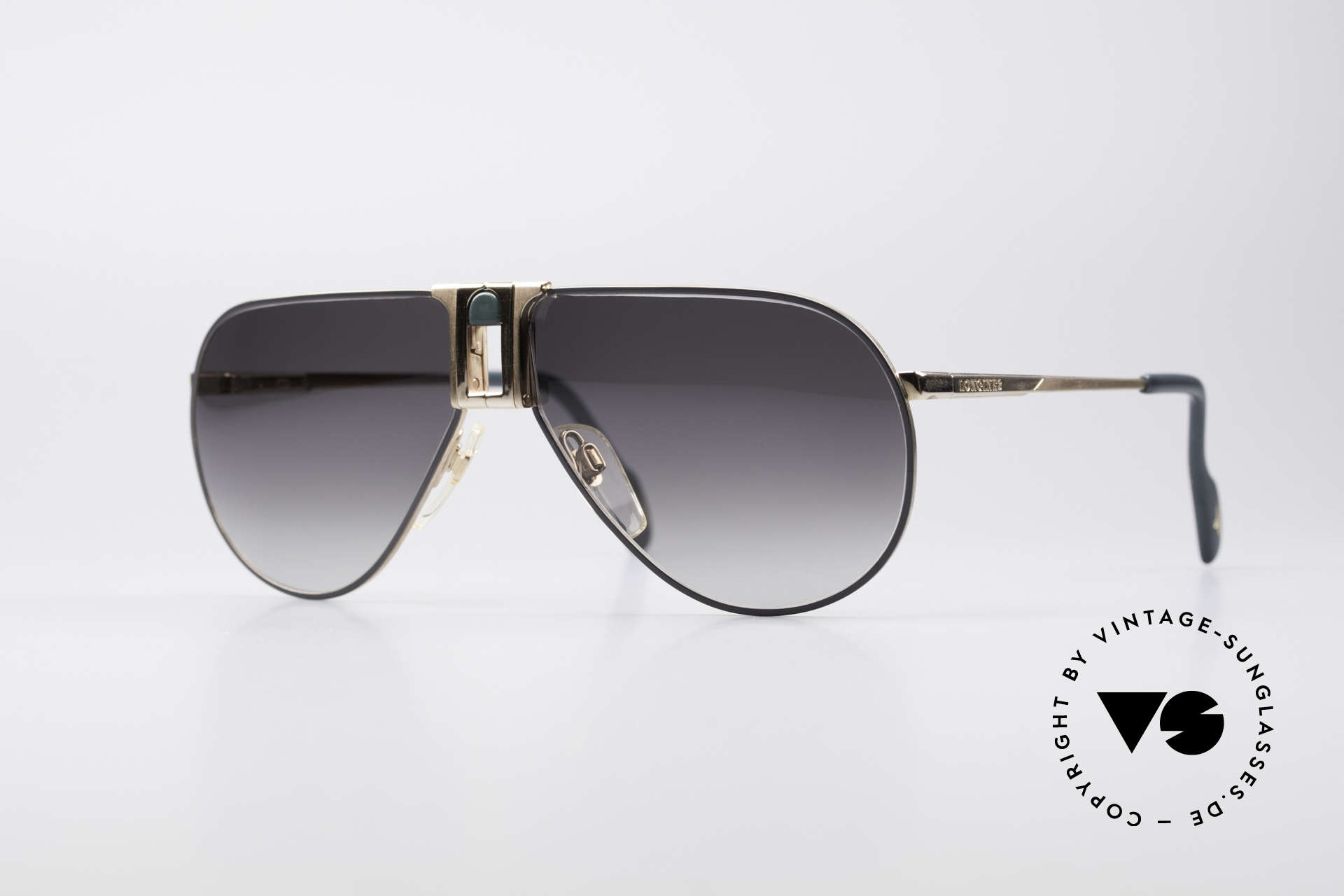 Longines 0154 1980's Aviator Sunglasses, high-end VINTAGE designer sunglasses by LONGINES, Made for Men