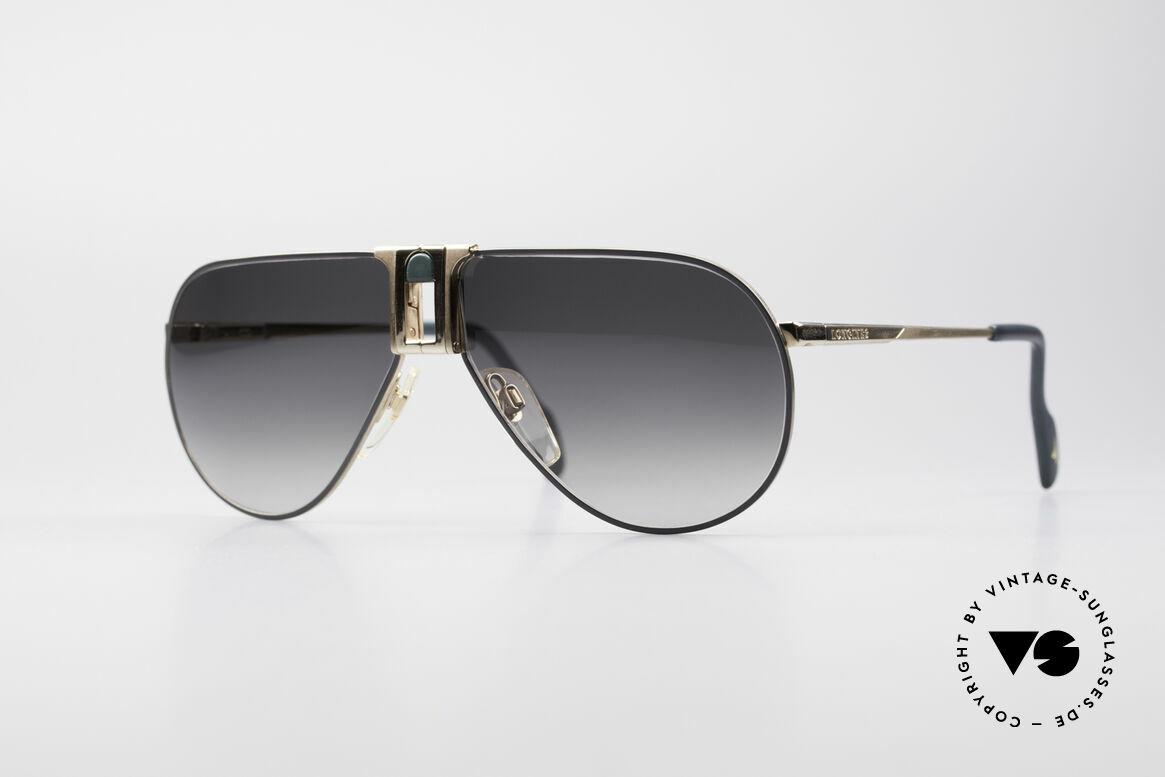 Longines 0154 1980's Aviator Sunglasses, high-end VINTAGE designer sunglasses by LONGINES, Made for Men