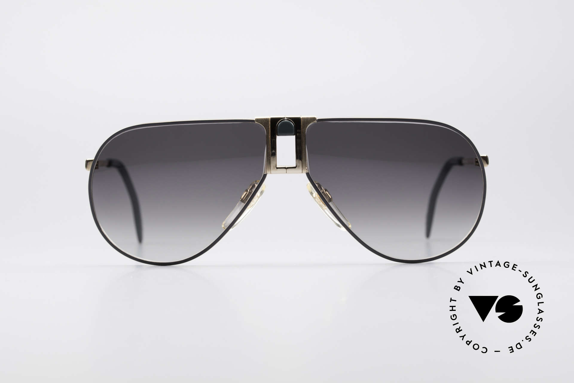 Longines 0154 1980's Aviator Sunglasses, precious frame with spring hinges (Metzler, Germany), Made for Men