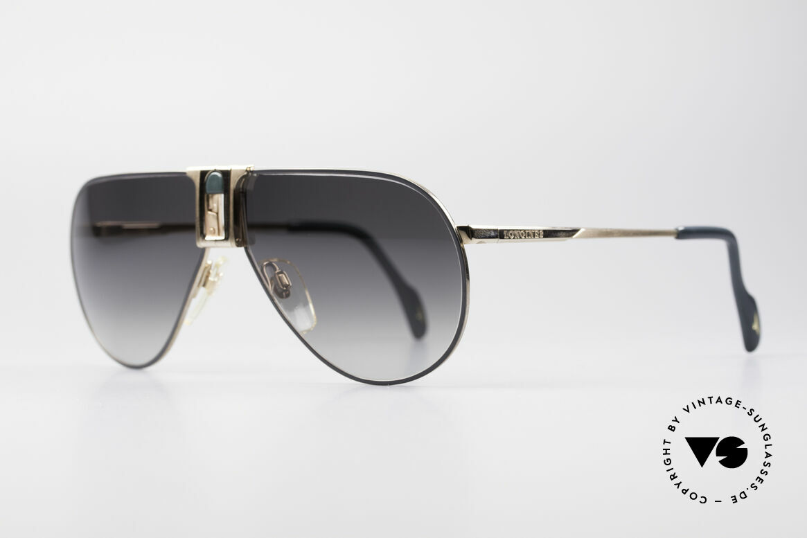 Longines 0154 1980's Aviator Sunglasses, classic aviator design & timeless coloring (gold/gray), Made for Men