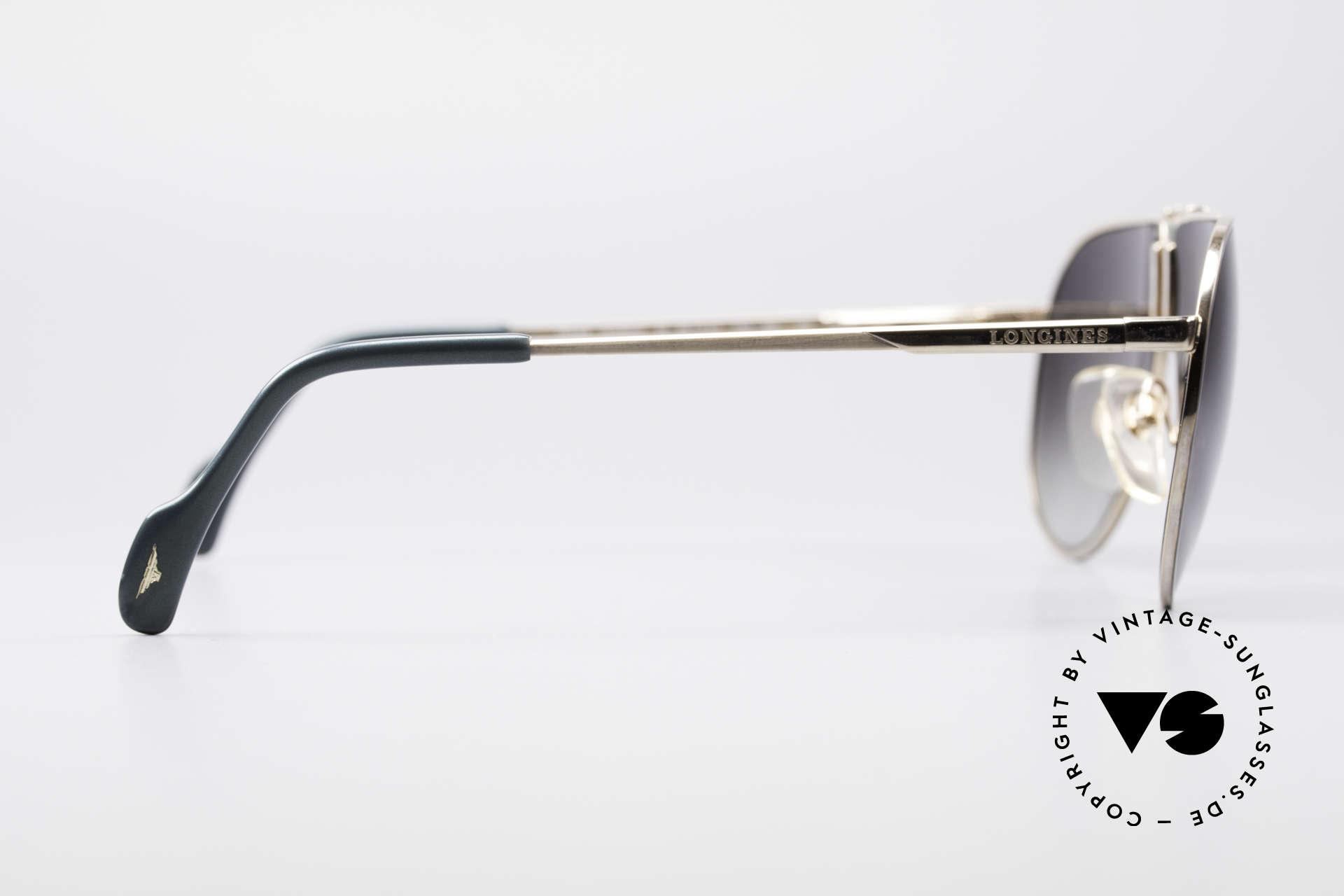 Longines 0154 1980's Aviator Sunglasses, never worn (like all our premium vintage sunglasses), Made for Men