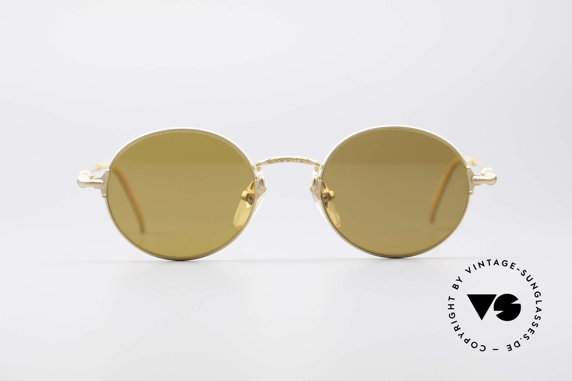 a20d5c386 Sunglasses Jean Paul Gaultier 55-6109 Gold Plated Polarized Shades ...