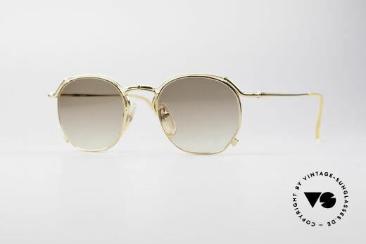 Jean Paul Gaultier 55-2171 Gold Plated Designer Frame Details