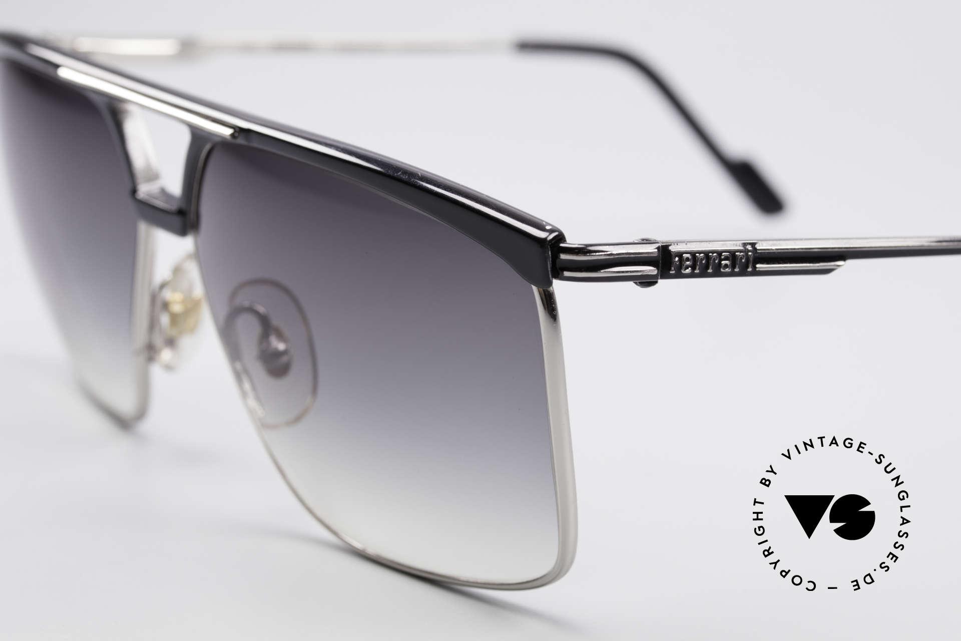 Ferrari F35 Men's 80's Vintage Shades, with gray-gradient sun lenses; 100% UV protection, Made for Men