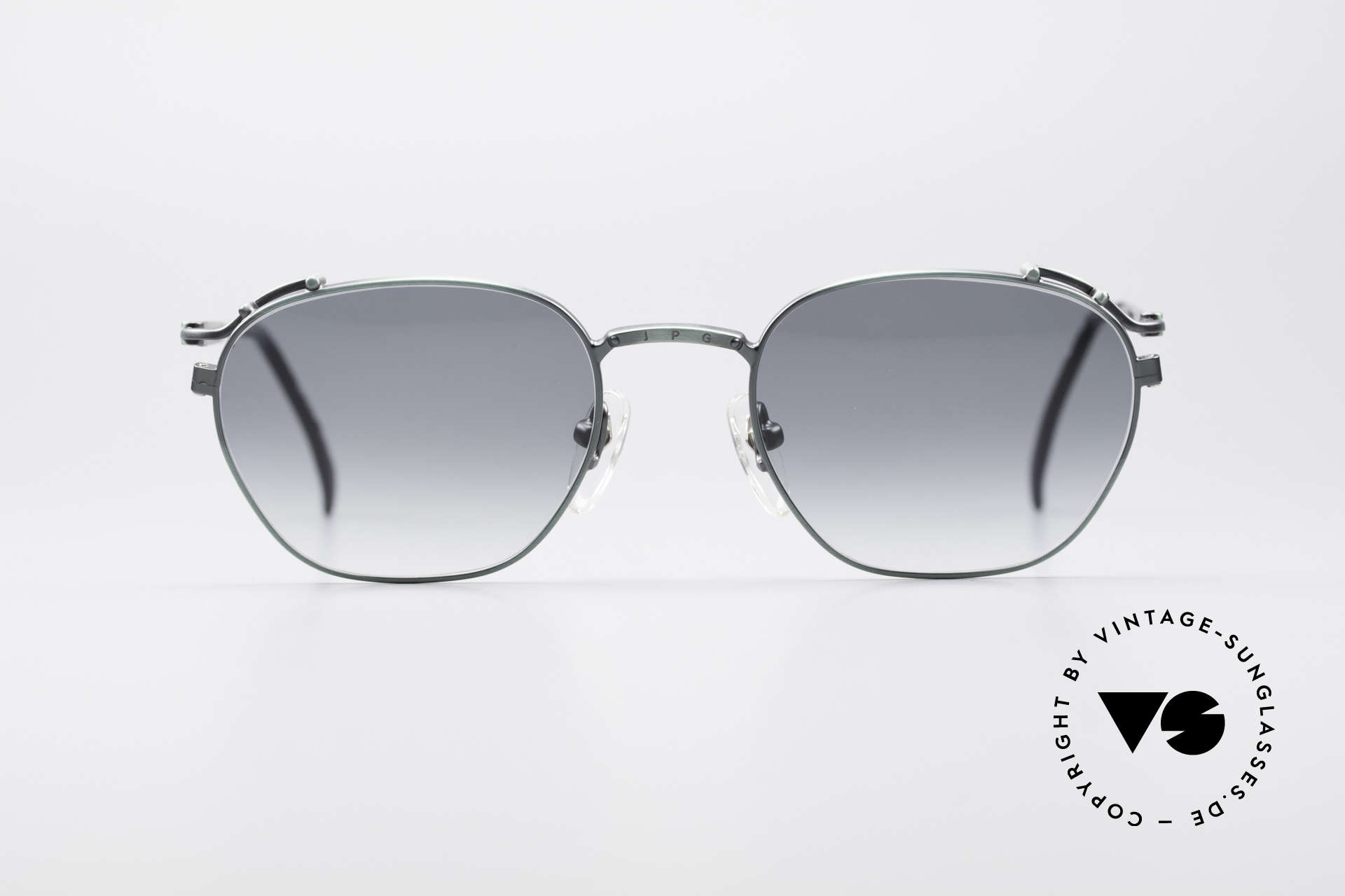 Jean Paul Gaultier 55-3173 90's Designer Sunglasses, ultra-light metal frame with many fancy details, Made for Men and Women