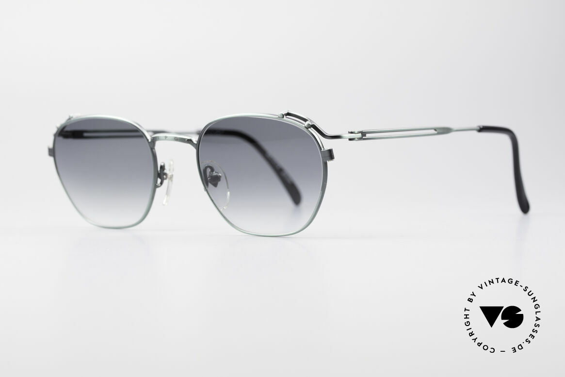 """Jean Paul Gaultier 55-3173 90's Designer Sunglasses, great metalwork: """"antique / smoke green"""" finish, Made for Men and Women"""