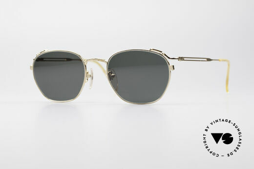 Jean Paul Gaultier 55-3173 90's Gold-Plated Sunglasses Details