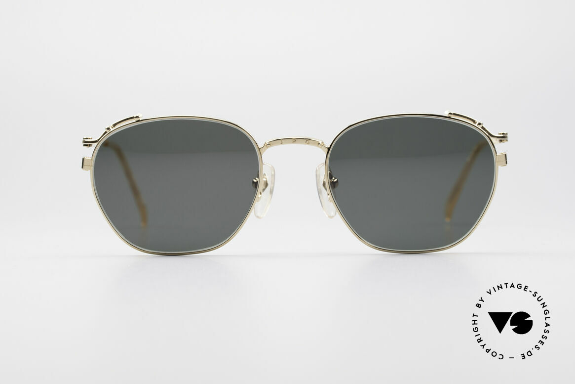 Jean Paul Gaultier 55-3173 90's Gold-Plated Sunglasses
