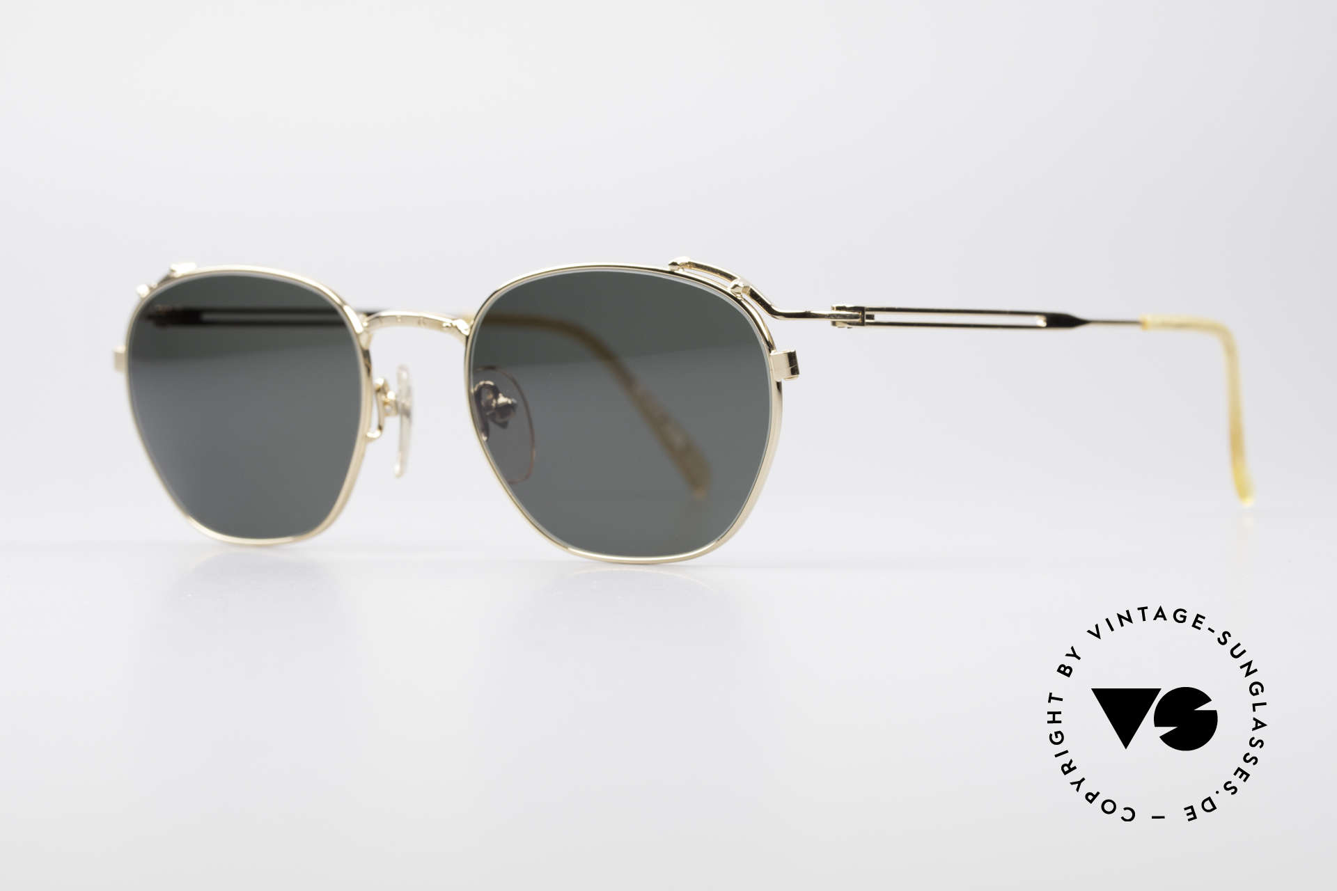 Jean Paul Gaultier 55-3173 90's Gold-Plated Sunglasses, top-notch 90's craftsmanship, 22kt gold-plated, Made for Men and Women