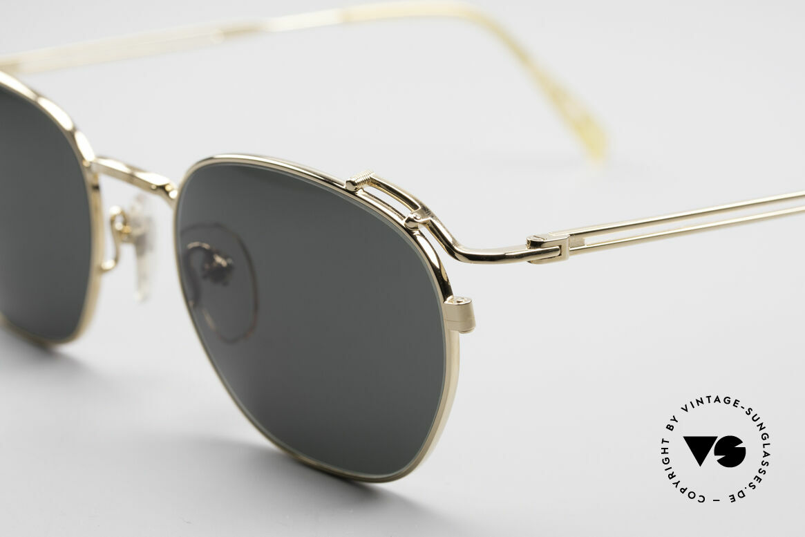 Jean Paul Gaultier 55-3173 90's Gold-Plated Sunglasses, unworn (like all our old 90s designer sunglasses), Made for Men and Women