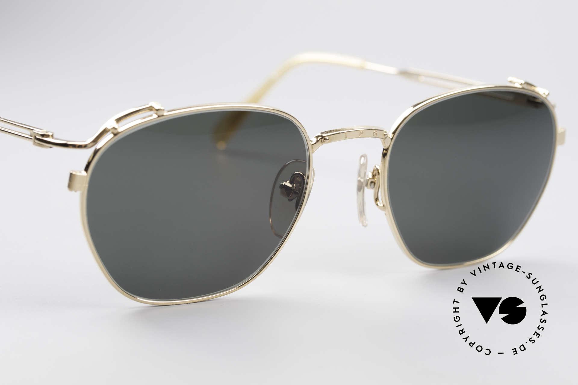 Jean Paul Gaultier 55-3173 90's Gold-Plated Sunglasses, NO RETRO EYEWEAR; a true vintage ORIGINAL!, Made for Men and Women