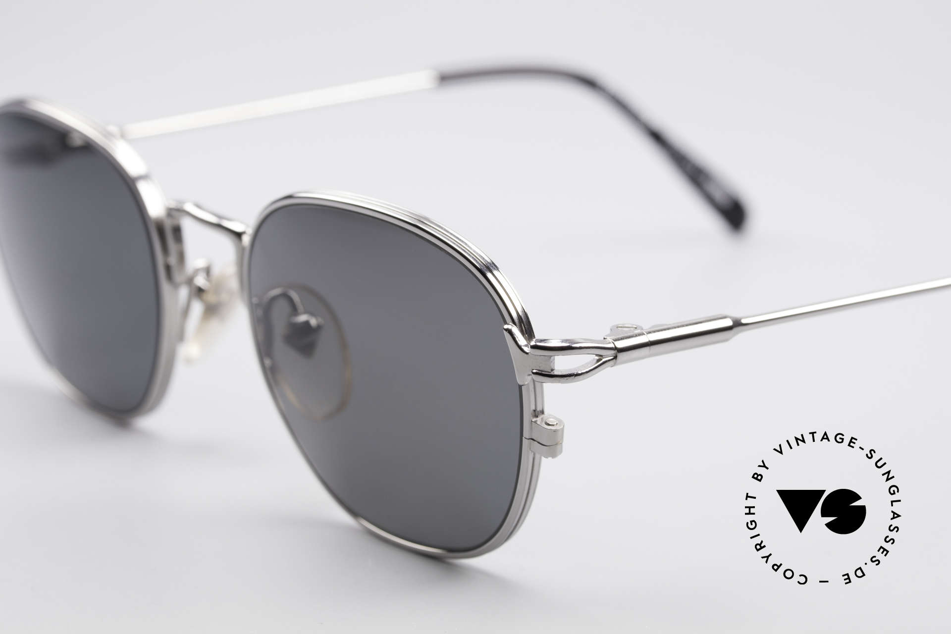 Jean Paul Gaultier 55-3182 Titanium Frame Polarized, unworn; one of a kind (like all our vintage 90's shades), Made for Men and Women