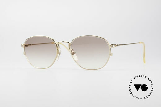 Jean Paul Gaultier 55-3182 Gold-Plated Titanium Frame Details
