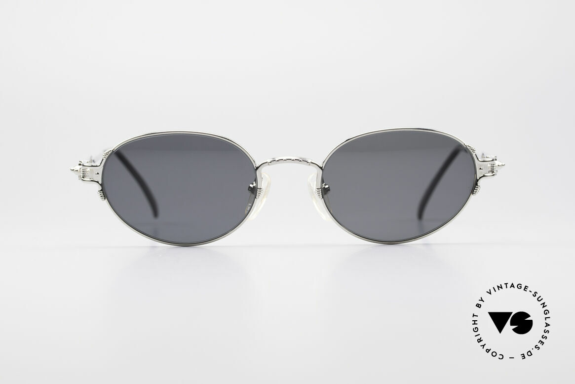 Jean Paul Gaultier 55-5108 Polarized Oval Sunglasses, solid metal frame with interesting construction, Made for Men and Women
