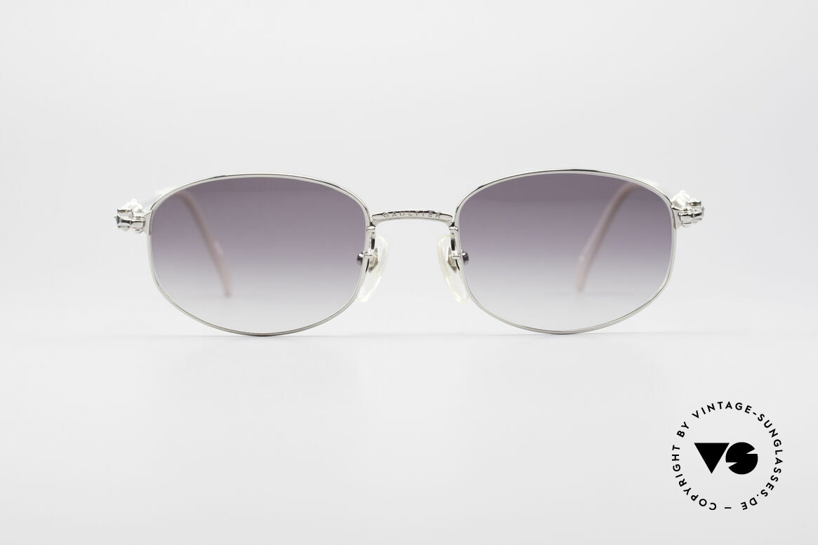 Jean Paul Gaultier 55-6102 True Vintage No Retro Specs, noble shiny frame finish (silver chrome plated), Made for Men and Women