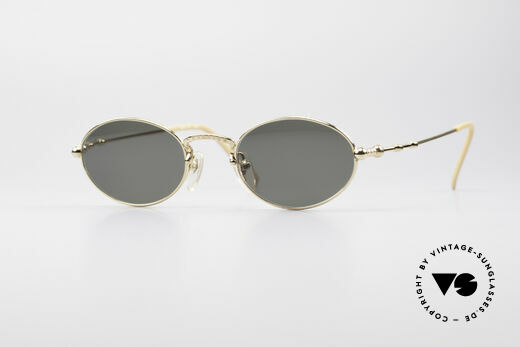 Jean Paul Gaultier 55-7106 Gold Plated Oval Sunglasses Details