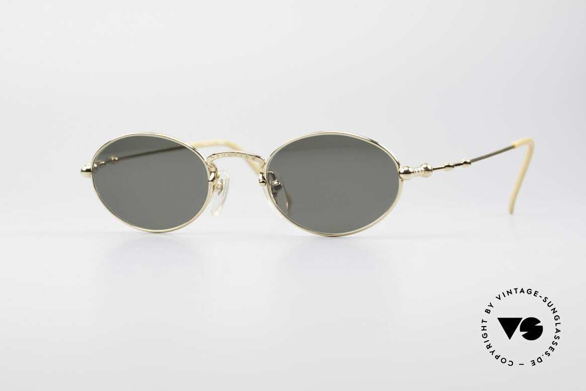 Jean Paul Gaultier 55-7106 Gold Plated Oval Sunglasses