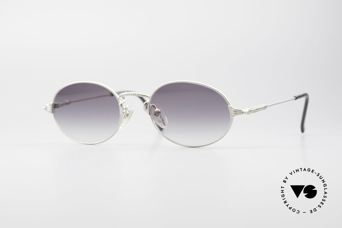 Jean Paul Gaultier 55-6108 Oval Vintage Sunglasses, oval Jean Paul Gaultier sunglasses from approx. 1998, Made for Men and Women