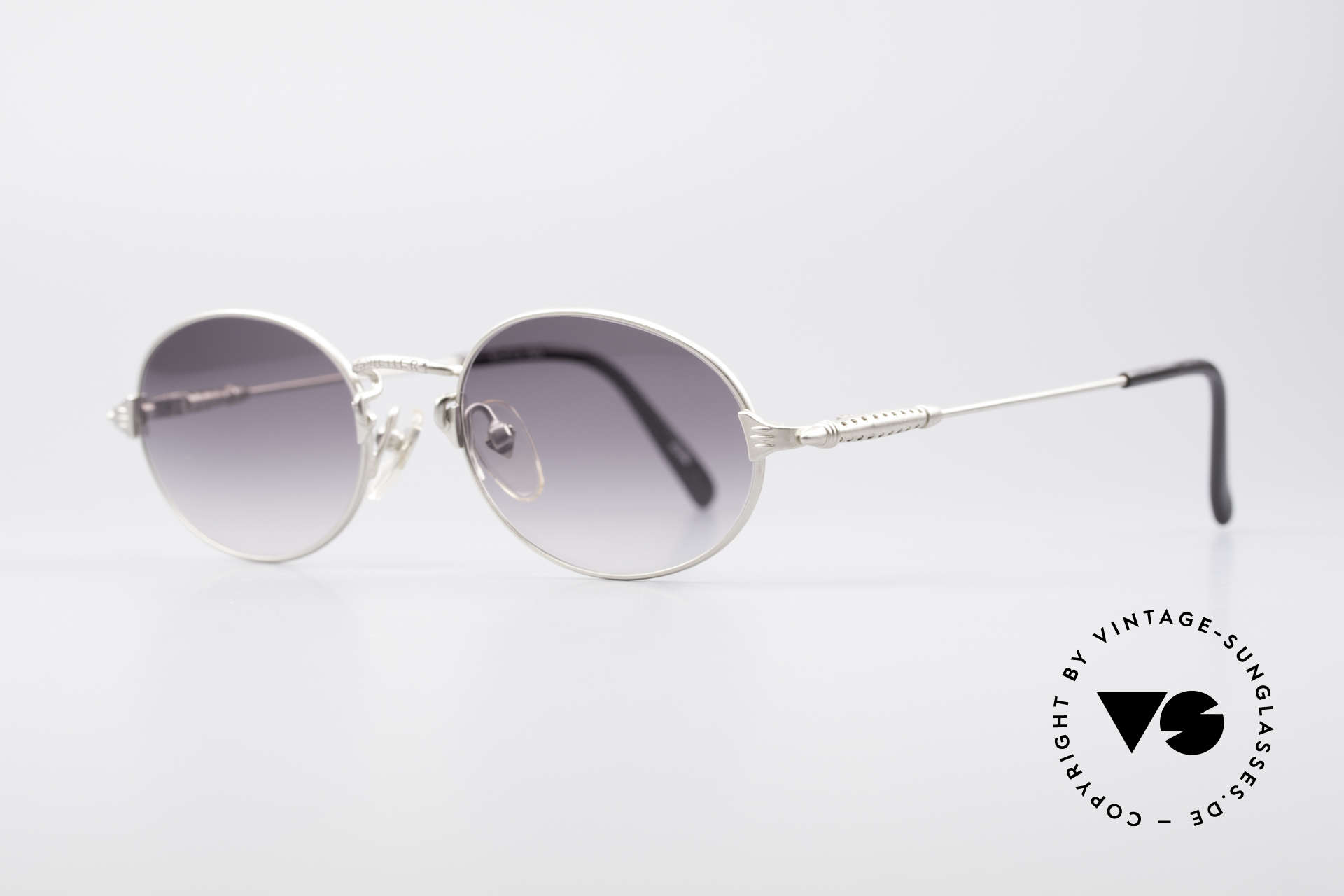 Jean Paul Gaultier 55-6108 Oval Vintage Sunglasses, 'mechanical design' = distinctive GAULTIER collection, Made for Men and Women