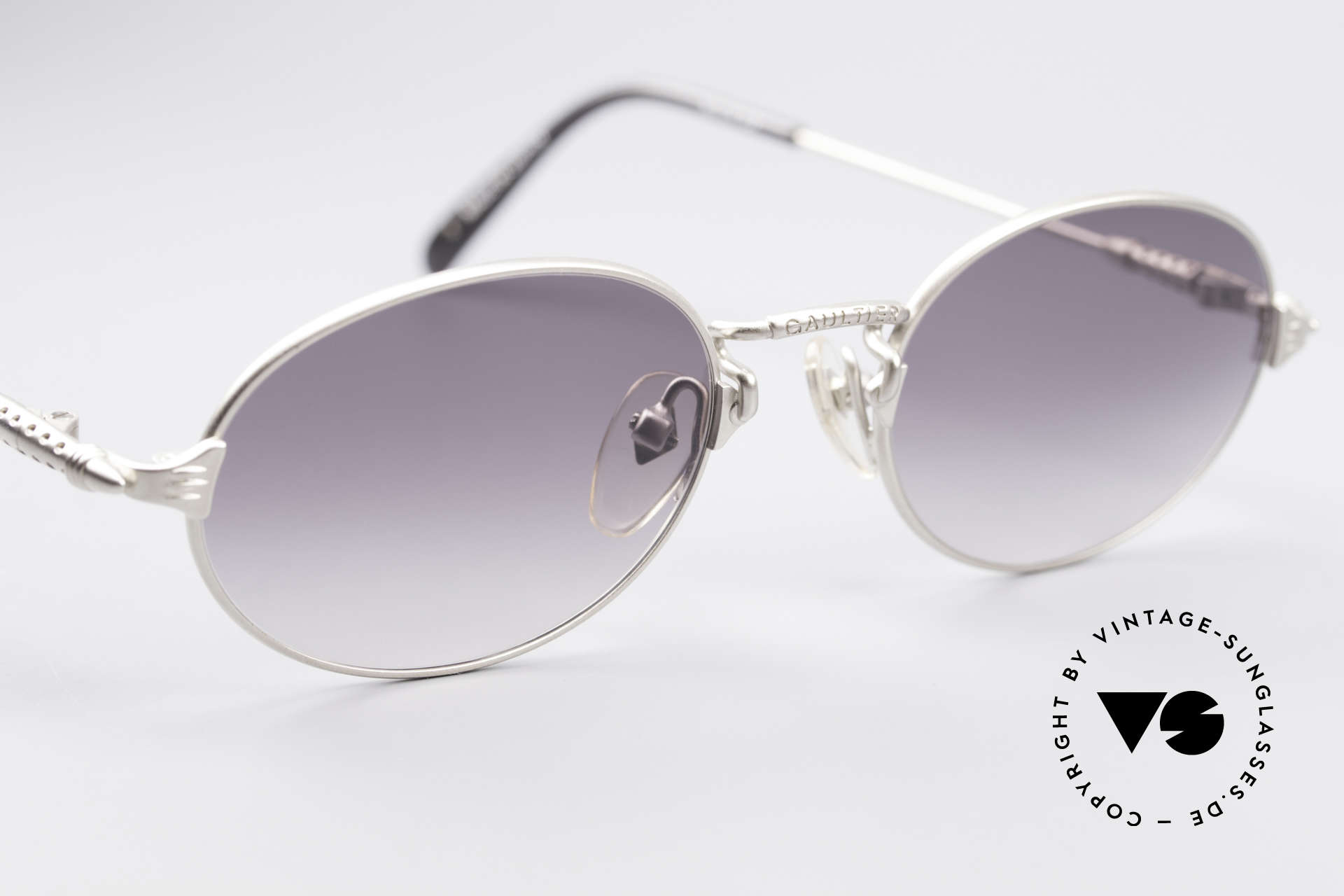 Jean Paul Gaultier 55-6108 Oval Vintage Sunglasses, unworn (like all our rare old 1990's designer sunglasses), Made for Men and Women