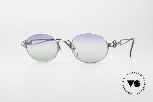 Jean Paul Gaultier 55-6112 Oval Designer Sunglasses Details