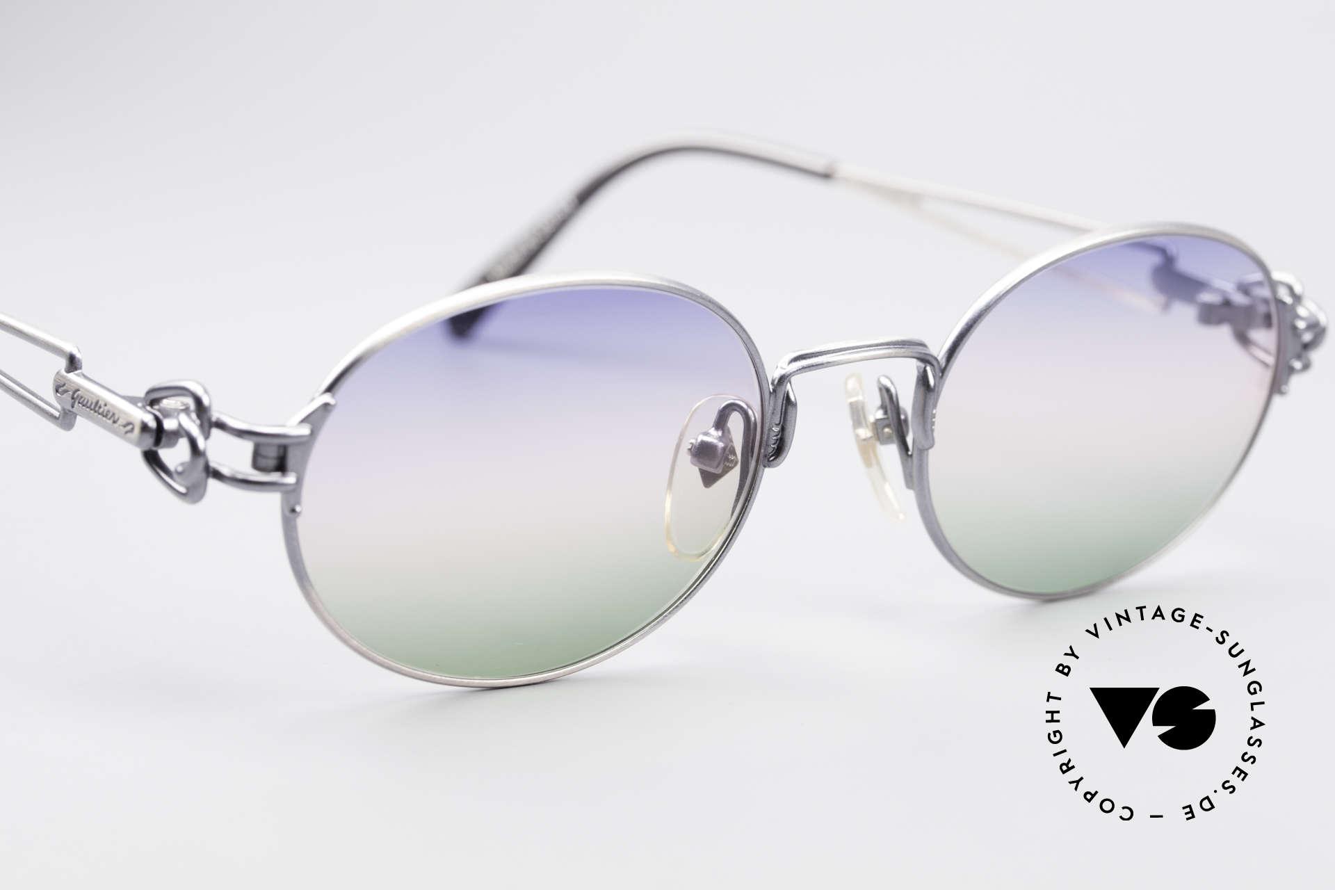 Jean Paul Gaultier 55-6112 Oval Designer Sunglasses, unworn rarity (like all our old JPG designer sunglasses), Made for Men and Women