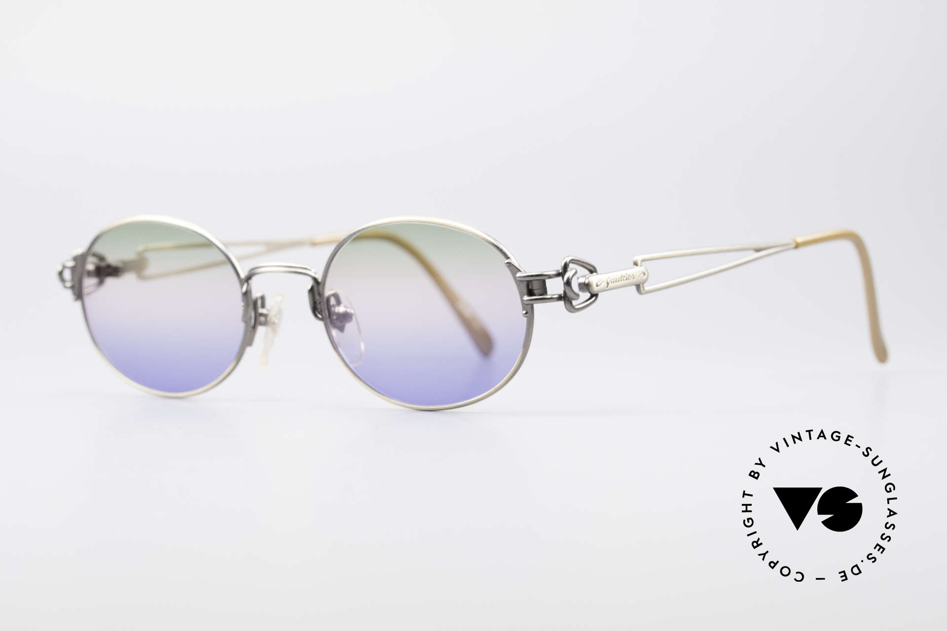 Jean Paul Gaultier 55-6112 JPG Designer Sunglasses, furthermore with unique tricolor-gradient sun lenses, Made for Men and Women