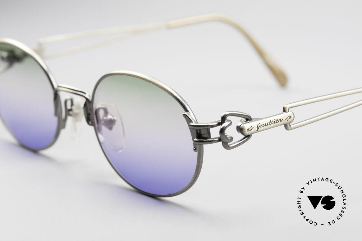 Jean Paul Gaultier 55-6112 JPG Designer Sunglasses, interesting design details on frame (typically Gaultier), Made for Men and Women