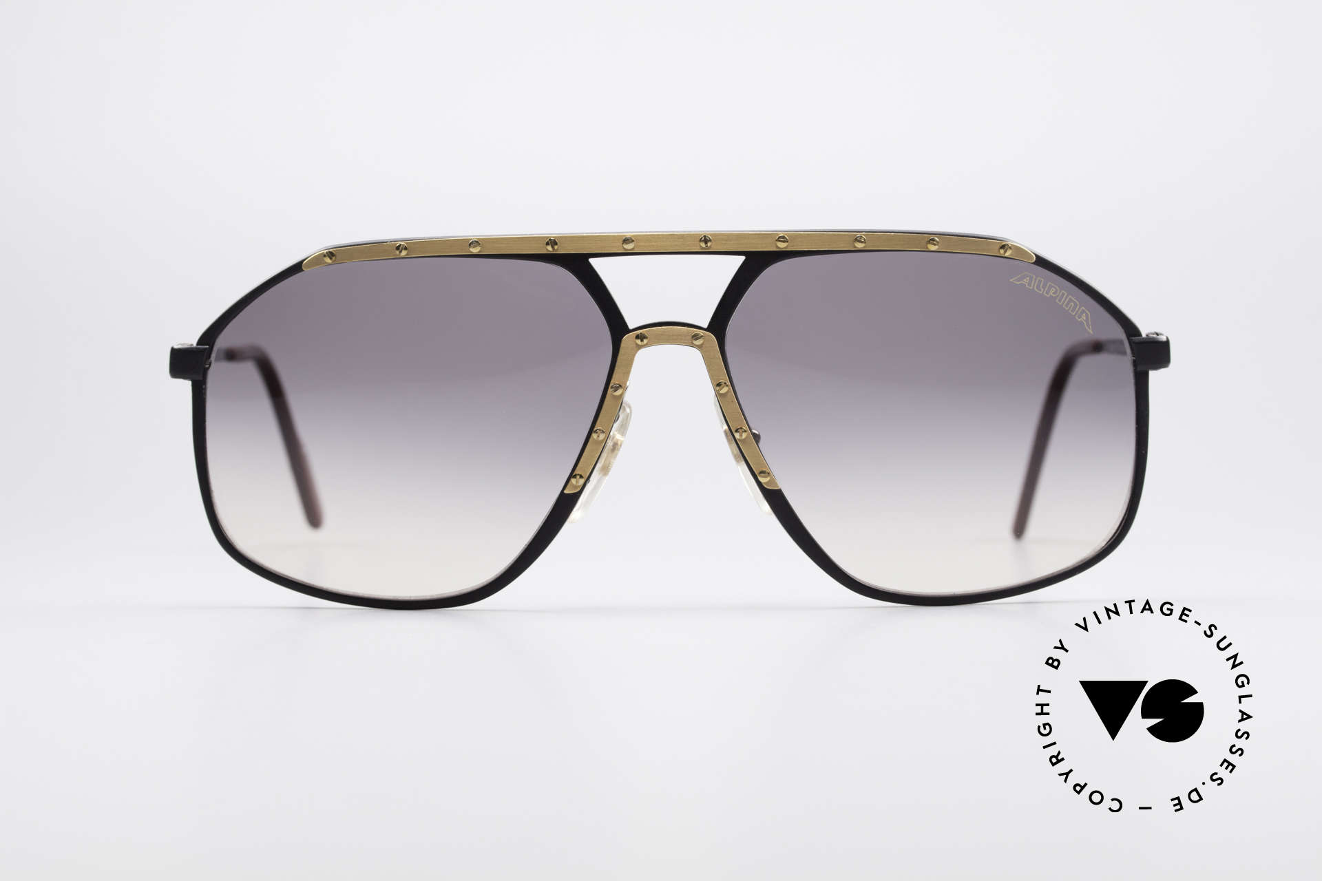 Alpina M1/7 Iconic Vintage Sunglasses, famous for the ornamental cover with the 18 screws, Made for Men