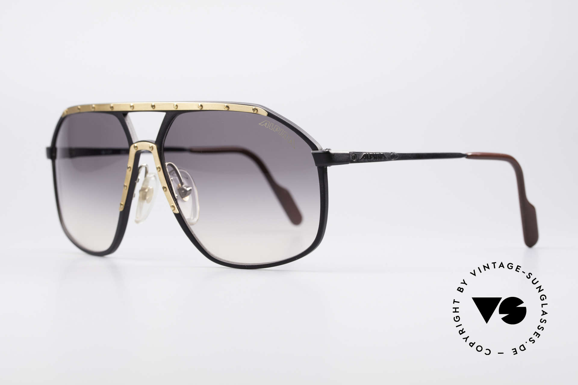Alpina M1/7 Iconic Vintage Sunglasses, a hybrid between the 80's Alpina classics M1 and M6, Made for Men