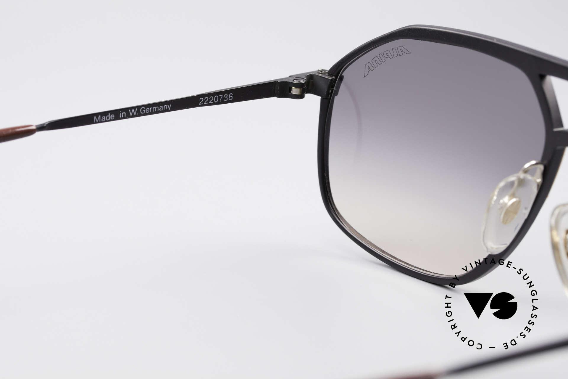 Alpina M1/7 Iconic Vintage Sunglasses, never worn, NOS (like all our rare Alpina sunglasses), Made for Men