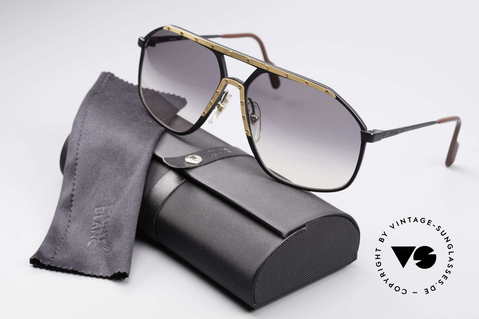 Alpina M1/7 Iconic Vintage Sunglasses, NO RETRO; but an old ORIGINAL with Montblanc case, Made for Men