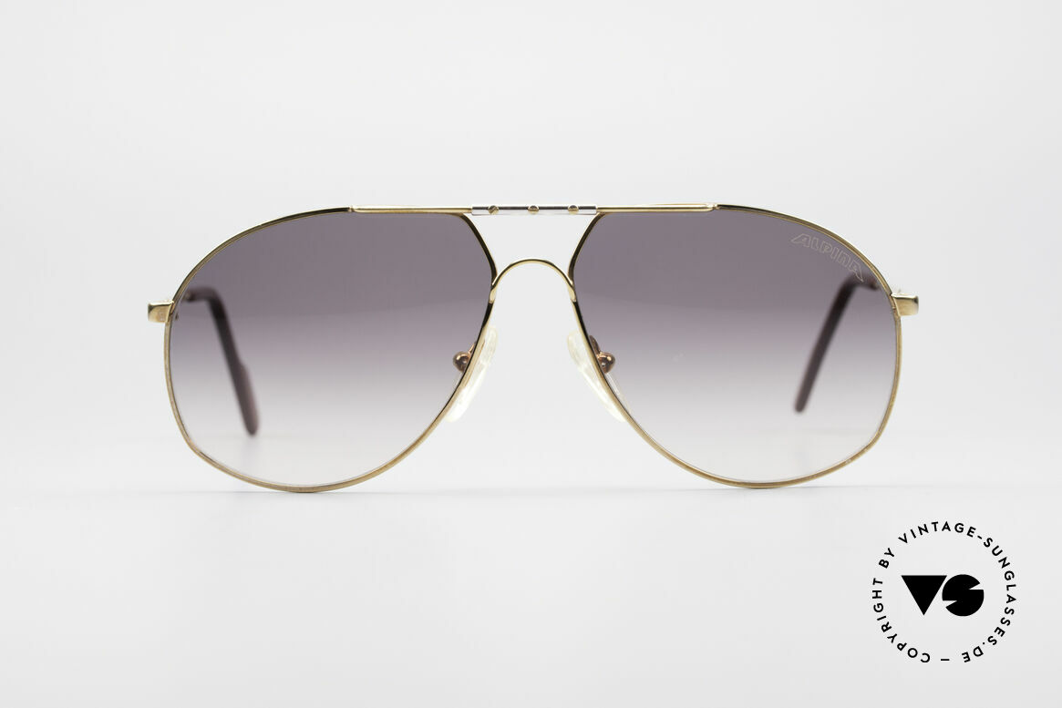 Alpina 704 Men's Aviator Sunglasses, legendary designer sunglasses by Alpina of the early 90's, Made for Men