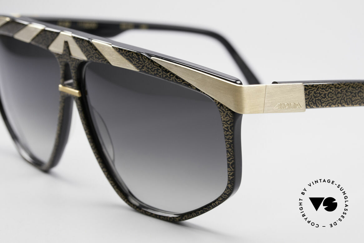 Alpina G82 No Retro Sunglasses Old 80's, top notch quality (24ct gold plated metal appliqué), Made for Men and Women