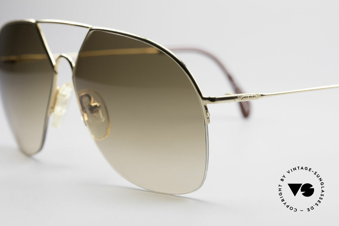Alpina TR7 Rimless 80's Aviator Frame, half rimless = lightweight & very pleasant to wear, Made for Men