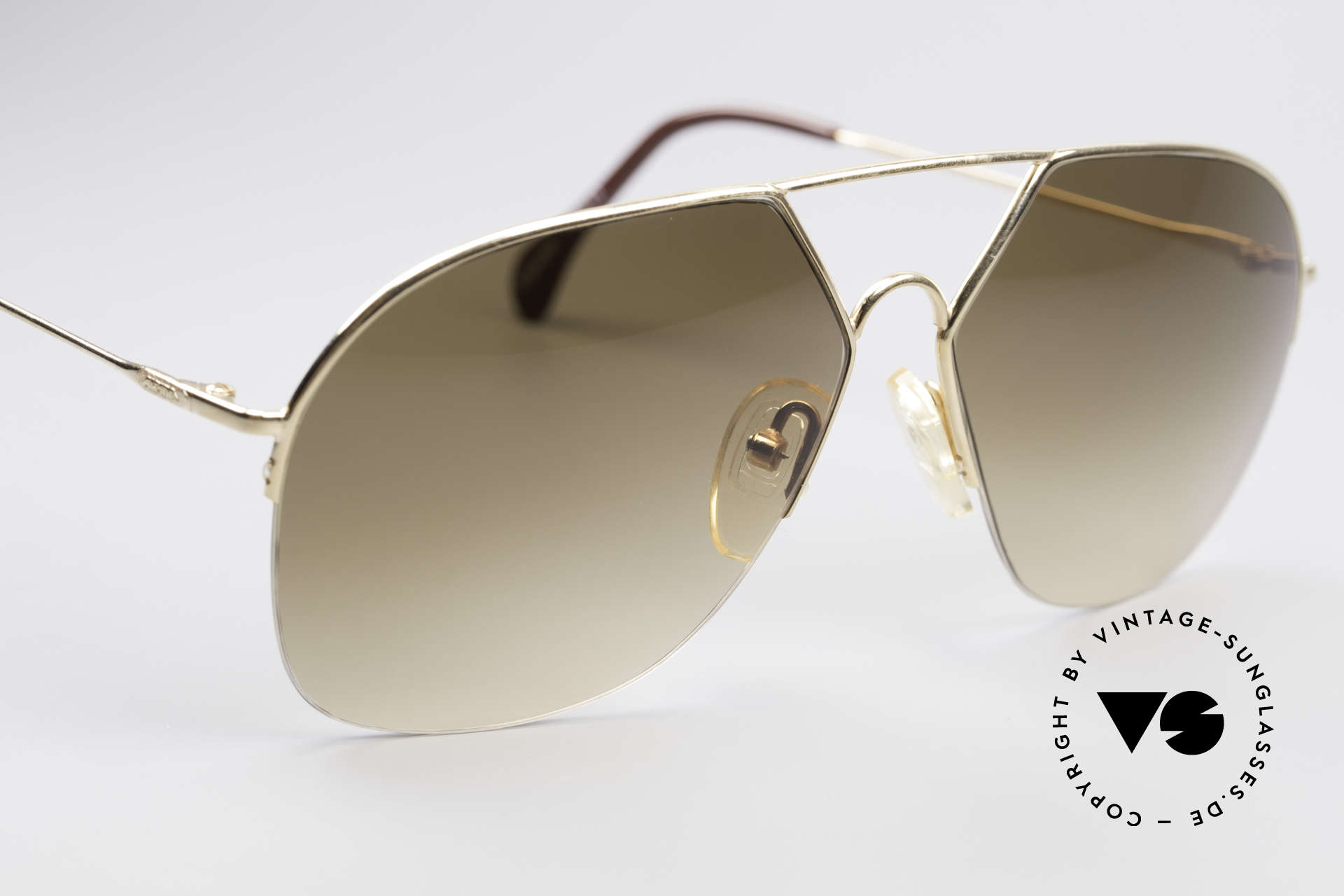 Alpina TR7 Rimless 80's Aviator Frame, unworn rarity, one of a kind, with orig. Alpina case, Made for Men