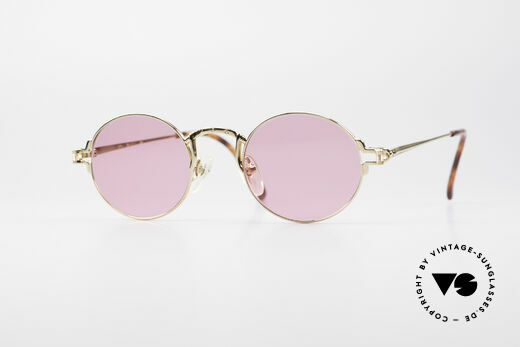 Jean Paul Gaultier 55-3171 Round 90's Frame Gold Plated Details