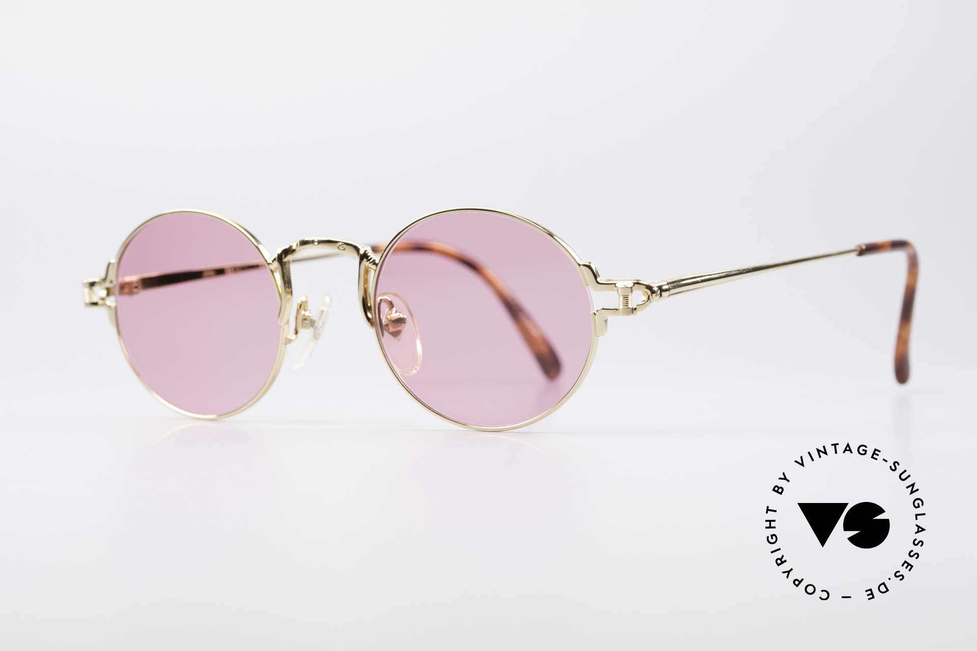 Jean Paul Gaultier 55-3171 Small Round Sunglasses, but with some fancy frame details (distinctive J.P.G), Made for Men and Women