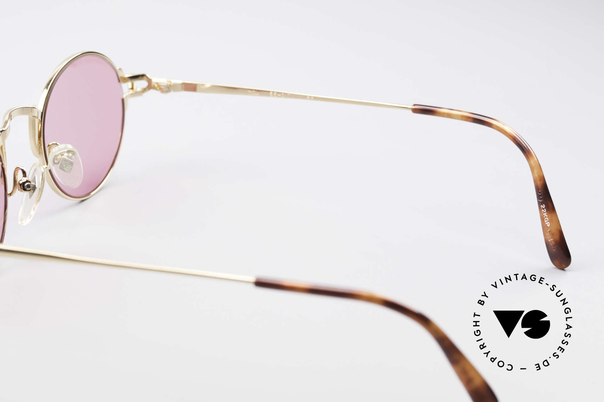 Jean Paul Gaultier 55-3171 Small Round Sunglasses, NO retro eyewear; a rare ORIGINAL with fancy lenses, Made for Men and Women