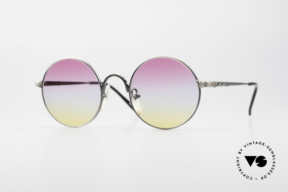 Jean Paul Gaultier 55-9671 Round Designer Sunglasses, round Jean Paul Gaultier designer sunglasses, Made for Men and Women