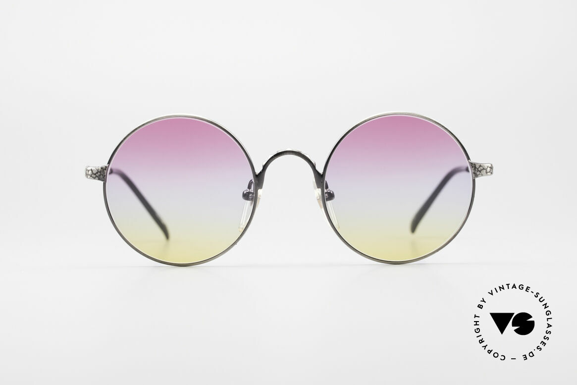 Jean Paul Gaultier 55-9671 Round Designer Sunglasses, high-end metal frame with costly engravings, Made for Men and Women
